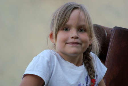 8 year old girl: 8 year old girl close up