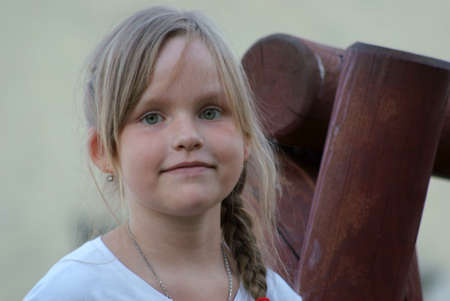 8 year old girl close up