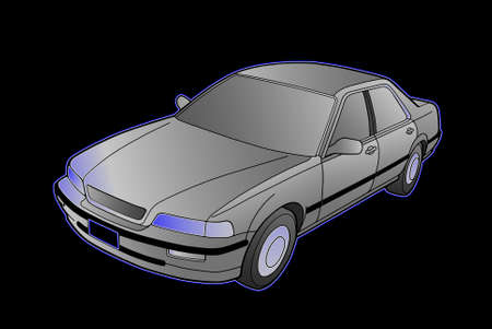 arkadia: Auto Legend on a black background graphics  Shades of Gray  Gradient  Neon Glow