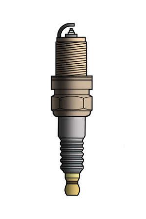 sooty: The engine spark plug sooty