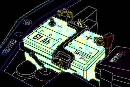 distilled water: La bater�a del coche est� completamente cargada Estable