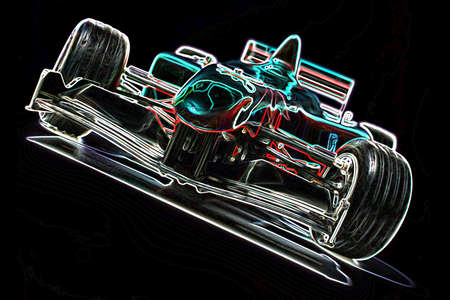 Drawing,  racing car