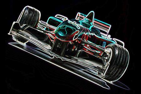 Drawing,  racing car