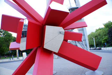 Modern art, beside the the Atomium, Brussels.