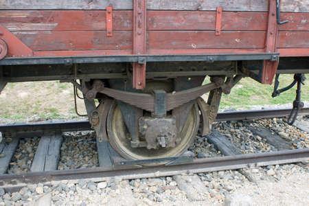 Memorial car on the tracks Birkenau. The camp at Auschwitz.