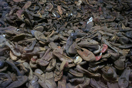 Shoes murdered. The camp at Auschwitz.
