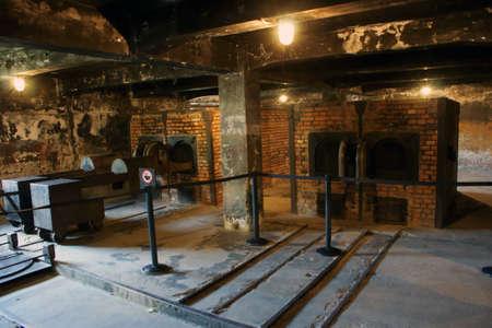crematorium: The interior of the crematorium. The camp at Auschwitz. Editorial