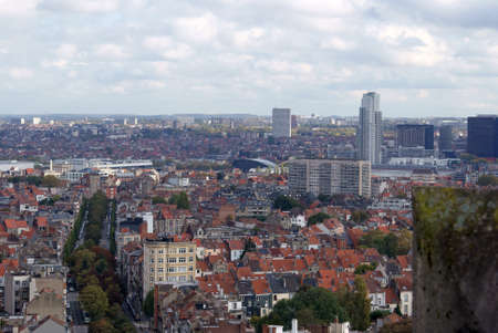 Brussels, city view from the top.