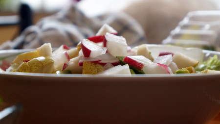 Tasty, healthy vegetable salad. Stock Photo