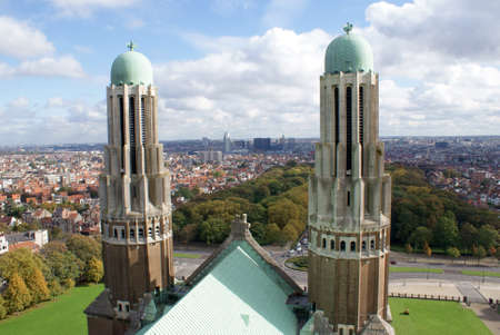 View of Brussels sprouts from the roof of the cathedral.