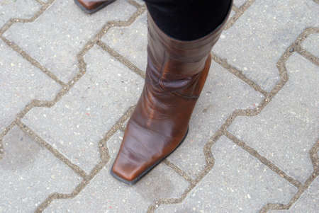 Brown winter shoes for women.