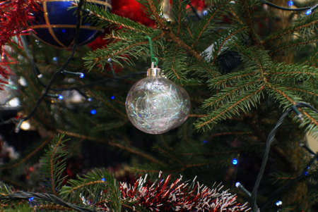 Christmas tree and ornaments.