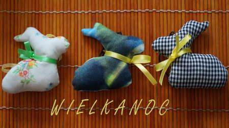 Easter Bunnies. Decoration handmade.