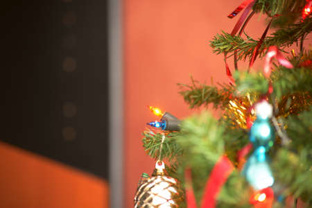 Colorful Christmas decorations. Stock Photo