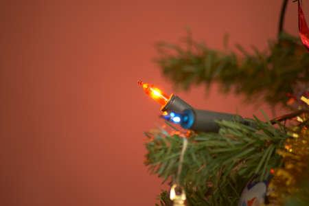 Christmas tree lighting. Bulbs.