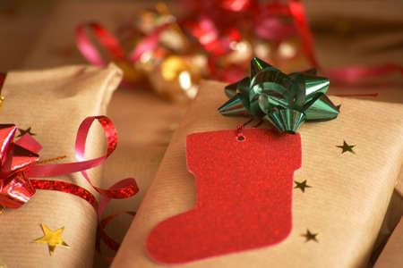 Christmas presents. Gifts. Christmas tree. Santa Claus.