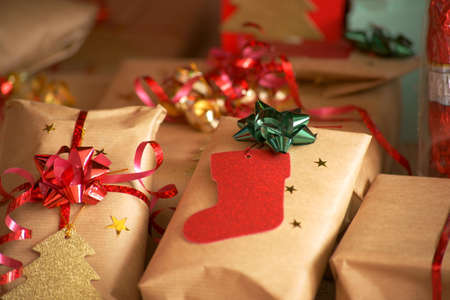 Christmas presents. Gifts. Stock Photo