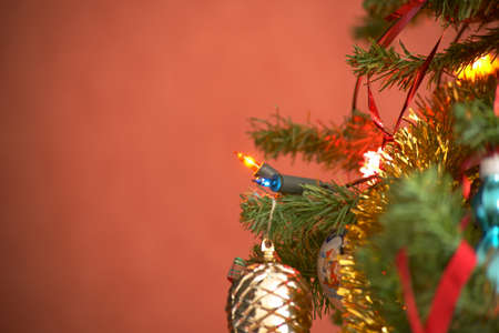 Decorations on the Christmas tree.
