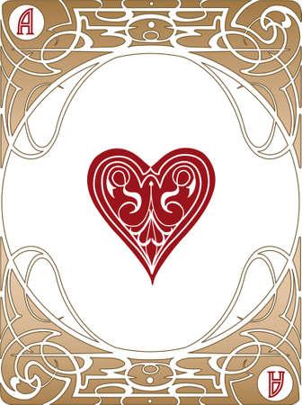 art nouveau: Carte da poker stile Liberty