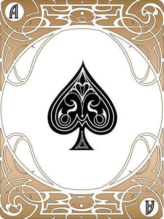 LIberty style poker playing cards, vector EPS AI8. Vector