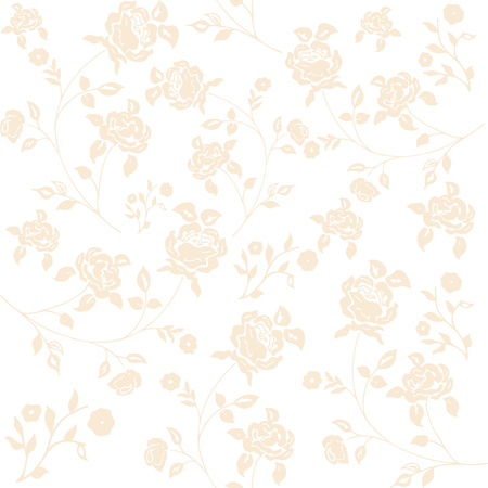 clipped: vintage flower pattern on navy background Illustration