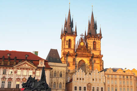 Prague, Czech Republic - view from the old square to the town hall Reklamní fotografie