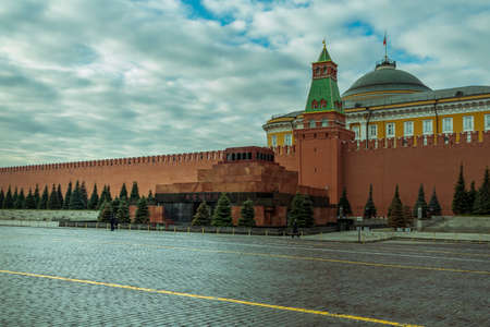 Lenin's Mausoleum on the Red Square in Moscow Redakční