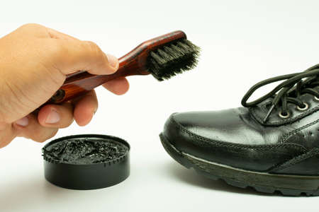 Brush for footwear. Brush and shoe polish. Shoe polish