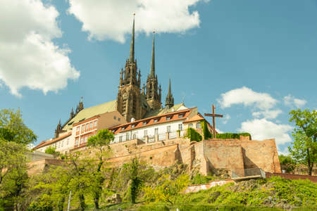 View of the St, Peter and Paul, Petrov, Cathedral in Brno, Czech Republic