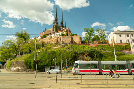 Brno, Czech Republic, may 2020 - View of the St, Peter and Paul, Petrov, Cathedral Editorial