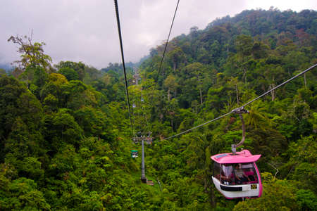 skyway: Genting highland cable car  Editorial