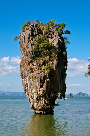 James Bond island in Thailand photo