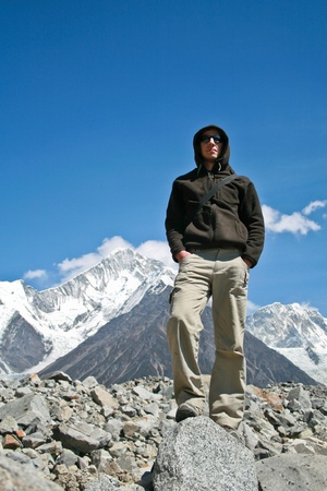 A man in high mountains, Sichuan, China Stock Photo - 8399837