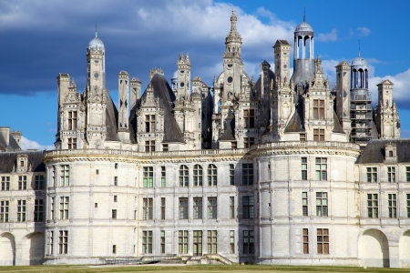 stately: Chateau de Chambord, Loire Valley, France Stock Photo