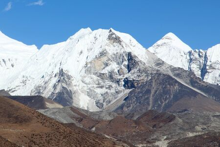 Island peak (Imja Tse) - popular climbing mountain in Nepal, Himalayas photo