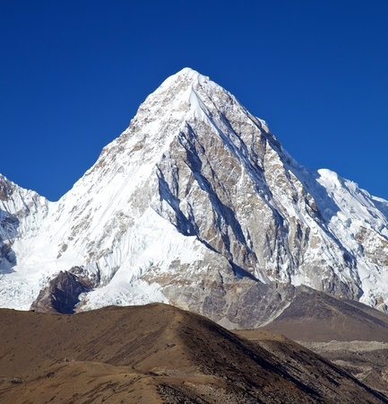 Mountain Pumori in Nepal himalayas Stock Photo - 17307033