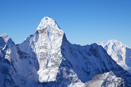 Mount Ama Dablam, view from Island Peak summit, Nepal photo