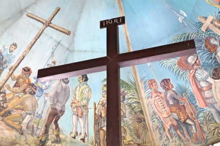 missionary: Magellans Cross in Cebu, Philippines Editorial