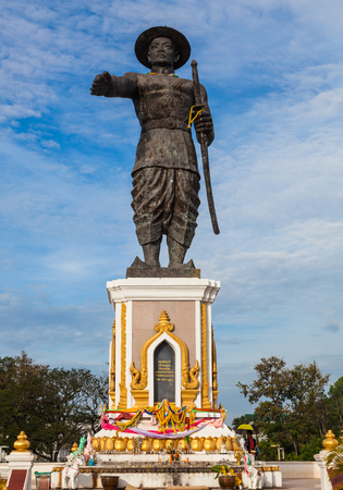 lao: Chao Anouvong Statue in Vientiane, Laos