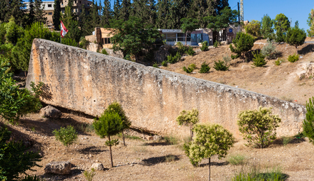 The largest stone in the world in Baalbeck (ancient Heliopolis), Lebanon.