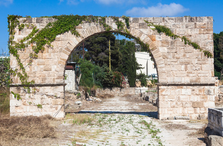 Ancient Roman ruins of Hippodrome and Necropolis in Tyre, Lebanon