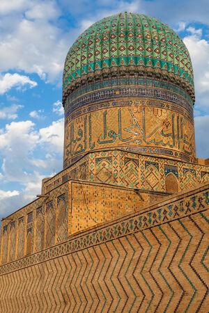 registan: Bibi-Khanym Mosque near Registan square in Samarkand, Uzbekistan