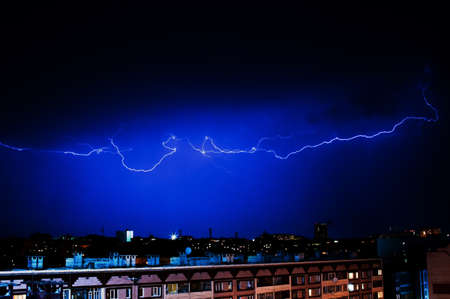dazzle: Dazzle lightning over the city