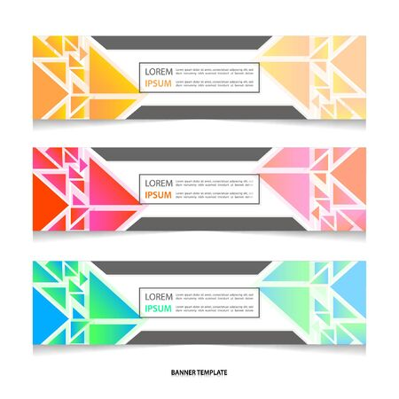 Vector abstract geometric colourful design banner Stock fotó - 129792469