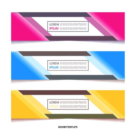 Vector abstract geometric colourful design banner Stock fotó - 129792476