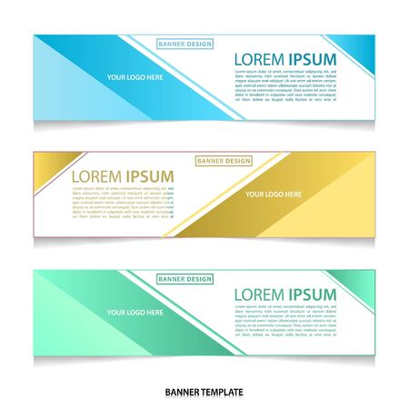 Vector abstract geometric colourful design banner Stock fotó - 129792695