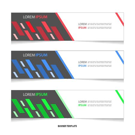 Vector abstract geometric colourful design banner