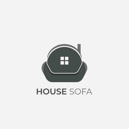 Sofa furniture logo isolated. Chair vector image