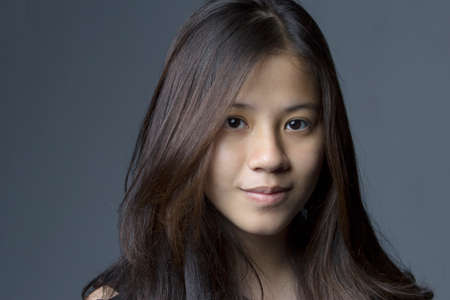 Asian teen girl headshot photo