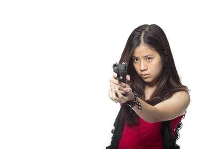 pistolas: agente femenino